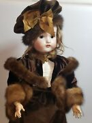 Antique 22 German Doll Porcelain Head And Composition Jointed Body.