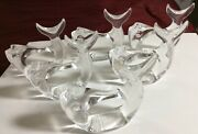 Lot Of 6 Vintage Fish Napkin Rings Bijan Clear Acrylic Lucite Fish