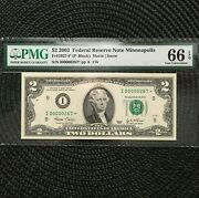 2003 2 Fed Res Note [] Minneapolis [] Star Ultra Low Ser Pmg Gem []