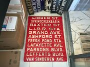 Brooklyn Ny Nyc Bus Roll Sign Lirr Railroad Station Parsons Lefferts Grand Ave.