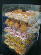 Displays2buy Acrylic Case W/5 Trays Pastry Bakery Donut Bagels Cookie