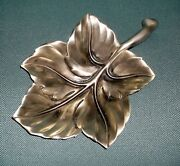 Royal Hickman Maple Leaf Aluminum Dish Signed Bruce Fox And Bruce Fox Metal Creed