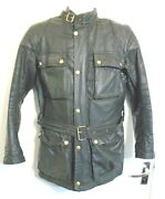 Vintage 70and039s Belstaff Tourmaster Trophy Waxed Motorcycle Jacket Size 38 Uk Made