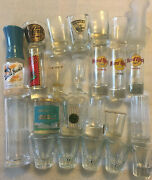 Vintage Shot Glass Lot Of 25 Jim Beam Jack Daniels Rare Pieces Nice Collection