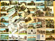 52 Postcards All Kittery Kittery Point Maine Lot Me 9 Hand Colored 1901-1930and039s