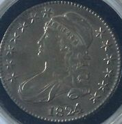 Very Nice Almost 200 Years Old Rare 1824/1 Capped Bust Half Dollar