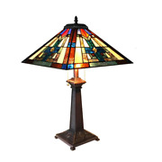 Taite -style 2 Light Mission Table Lamp 16 Shade