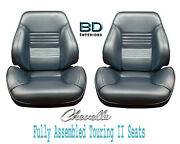 1967 Chevelle And El Camino Touring Ii Front Bucket Seats Assembled