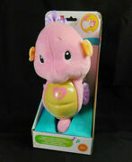 Fisher Price Soothe And Glow Seahorse Pink New 8 Different Lullabies