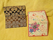 Rare Coach Chelsea Signature Flowered Bifold Wallet And Coach Checkbook Cover