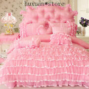 Princess Style Bedding Set Luxury Bed Cover Duvet Cover Bed Skirt Bed Sheets Set