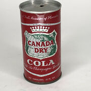 Canada Dry Sparkling Cola Soda Can Flat Top Vintage Pop Can Zip English And French
