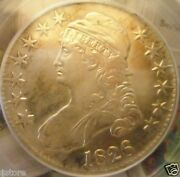 Very Nice 196 Years Old Rare 1826 Capped Bust Liberty Head Half Dollar