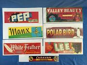Vintage Fruit Crate Advertising Collection Original Packaging Labels California