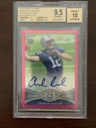 Andrew Luck 2012 Topps Chrome Rookie Auto Pink Refractor 31/75 Bgs 9.5 Fut. Hof