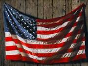 Seymour Schachter Glory - American Flag Painting Hand Signed Canvas Giclee Large