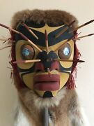 Bumble Bee Mask Carved By George Hunt Jr. Rare