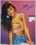 Tiffani Thiessen Signed 16x20 Photo 1 Saved By The Bell Autograph Psa/dna Coa