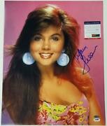 Tiffani Thiessen Signed 16x20 Photo 2 Saved By The Bell Autograph Psa/dna Coa