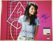 Tiffani Thiessen Signed 16x20 Photo 3 Saved By The Bell Autograph Psa/dna Coa