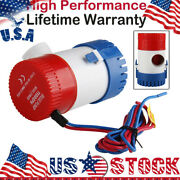 Submersible Bilge Water Pump 12v 1100gph Electric Marine For Boats Yachts 1-1/8