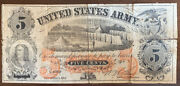 United States Army Sutler Civil War Five Cents 5andcent Obsolete Note