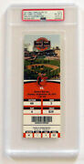 Jim Thome Signed And Inscribed Final Career Hit And Rbi Ticket Graded 8 Autograph 10