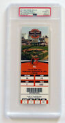 Jim Thome Signed And Inscribed Final Career Home Run Ticket Autograph Graded 10
