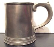 Antique English Pewter Infusion Mug - 19th Century For Camphor Breathing Tool