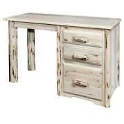 Log Writing Desk Rustic Amish Made Small Office Or Dorm Desks
