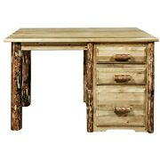 Log Writing Desk Rustic Amish Made Small Office Dorm Desks Stained
