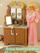 Fashion Doll Antique Washstand And Mirror 2 Plastic Canvas Pattern By Annies Attic