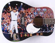 Derek Jeter Signed Guitar Psa Coa Custom 1/1 Graphics New York Yankees