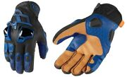 Icon Hypersport Short Motorcycle Gloves Tpu Plates Touchscreen Blue Pick Size