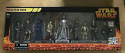 Star Wars Revenge Of The Sith 9 Figures Set Collector Pack Silver Darth Vader
