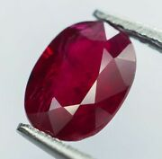 1.22ct Natural Untreated Pigeon Blood Ruby From Mozambique With Certification