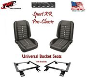 Sport Xr Pro Classic - Complete Universal Bucket Seat Set With Brackets