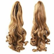 15-28inch Body Wavy Claw Clip In Ponytail 100 Remy Human Hair Extension Thick