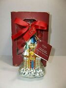 Lenox Yuletide Treasures Blown Glass Christmas Tree Ornament 2002 Our First Home