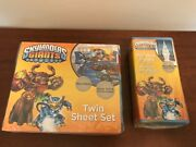 Andnbspskylanders Giants New 3pc Twin Bed Sheets And Package Of 2 Window Panels Curtaino