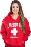 Lifeguard Officially Licensed Ladies California Hoodie Sweatshirt Apparel For Wo