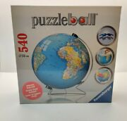 Ravensburger The Earth 3d Jigsaw Puzzle Ball World Globe 540 Pieces