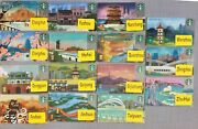 2019 Starbucks China City Card Set Of 15 Beautiful Cards Complete W/ Pin Intact