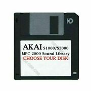 Akai S1000 / S3000 Floppy Disk Mpc 2000 Sound Library Choose Your Disk