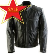 Black Brand Menand039s Leather Cutthroat Motorcycle Jacket Stealth Xxx-large