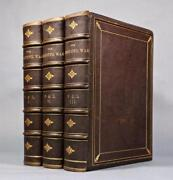 1867 The Great Civil War Abraham Lincoln Illustrated Full Leather Bindings 12x9