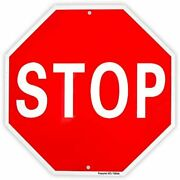 Stop Sign Street Slow Warning Reflective Signs 12andquotx 40 Mil Rust Free Sign