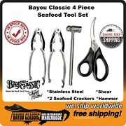 Seafood Tool Set Stainless Steel 4 Piece By Bayou Classic Utensil Kit 300-272