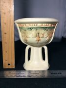 """Vintage Weller Art Pottery Roma Comport 5 1/2"""", Unmarked"""