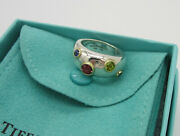 And Co Sterling Silver 18k Gold Etoile Sapphire Tourmaline Size 5 Ring